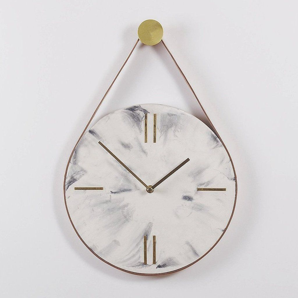 Guise White Marble Wall Clock Clock Marble Wall Wall Clock Design