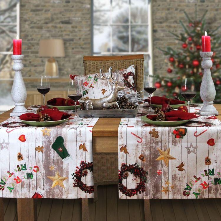 perfekt zu weihnachten sander tischdecke no nuts weihnachtstische pinterest tisch. Black Bedroom Furniture Sets. Home Design Ideas