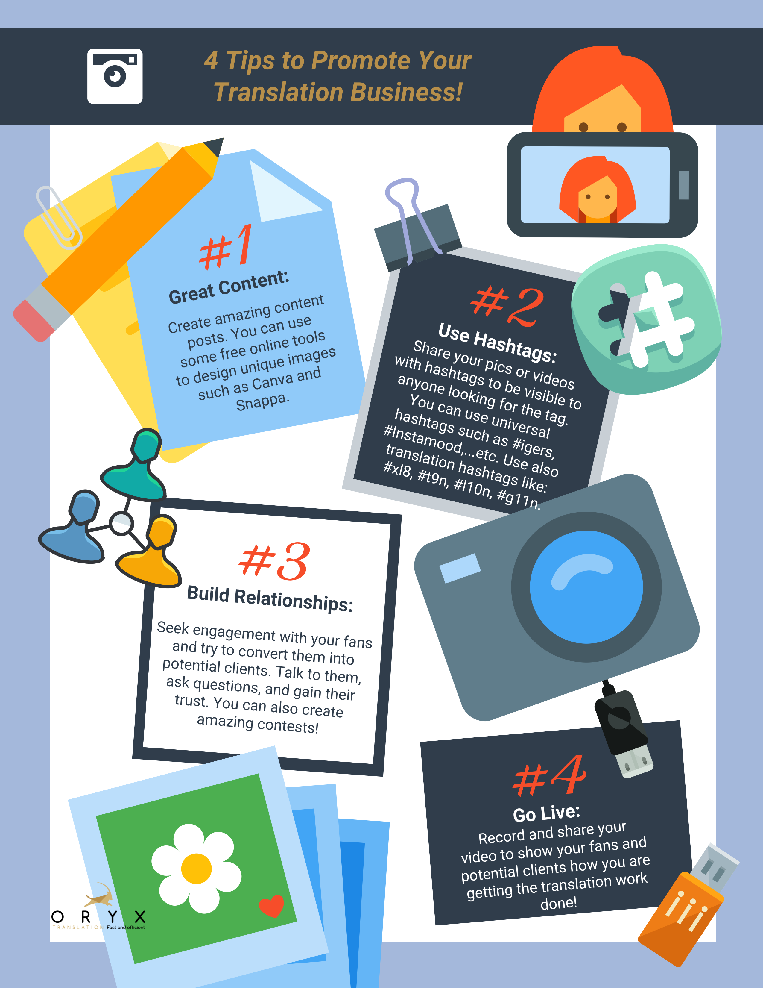 Home Social Media Freelance Translator Social Media Content