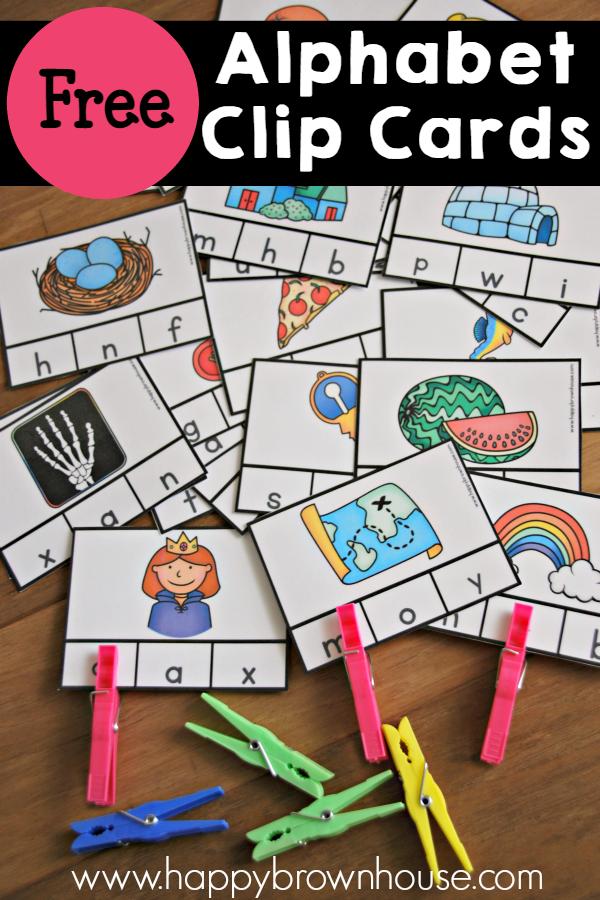 Alphabet Beginning Sounds Clip Cards Alphabet activities