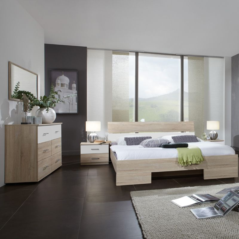 Schlafzimmerset 4-tlg »LIANA« Eiche sägerau, alpinweiß Jetzt