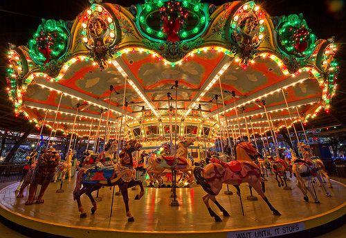 Christmas Carousel Carousel Carousel Horses Amusement Park Rides