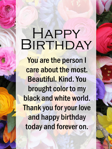 Happy Birthday Card No One Can Compare To The Love In Your Life Smile Is As Bright Laugh Beautiful Heart Warmth