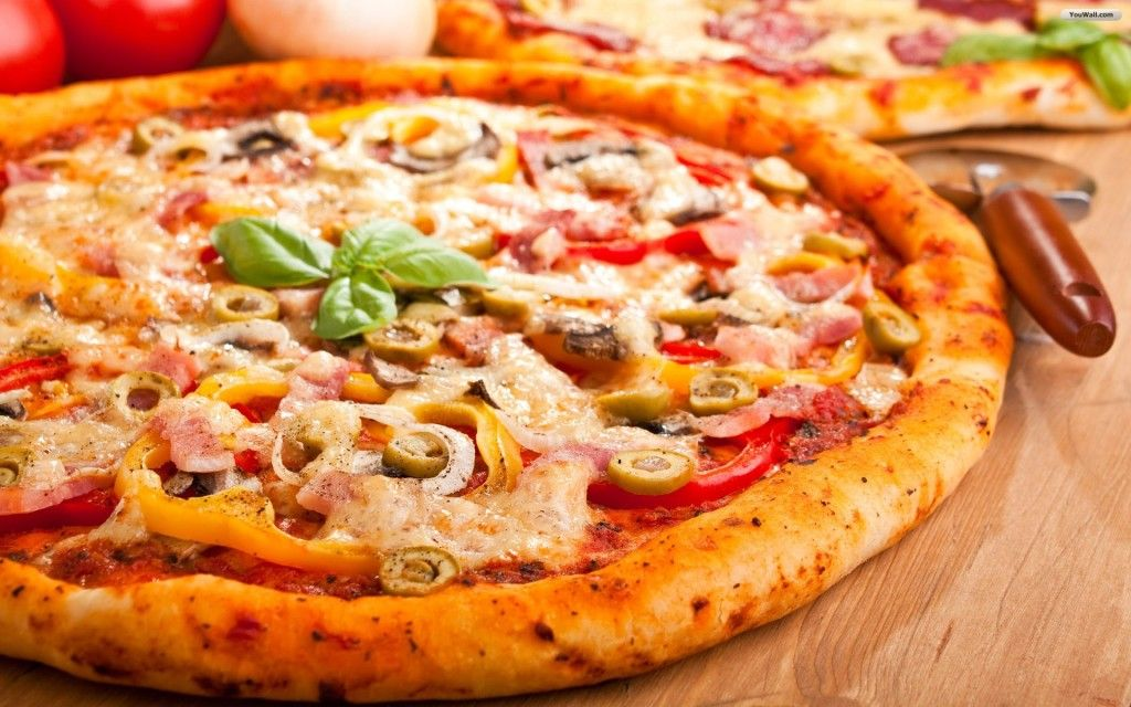 Pizza Delicous HD Wallpaper 1080p | Hot Images | Pinterest | Hd ...