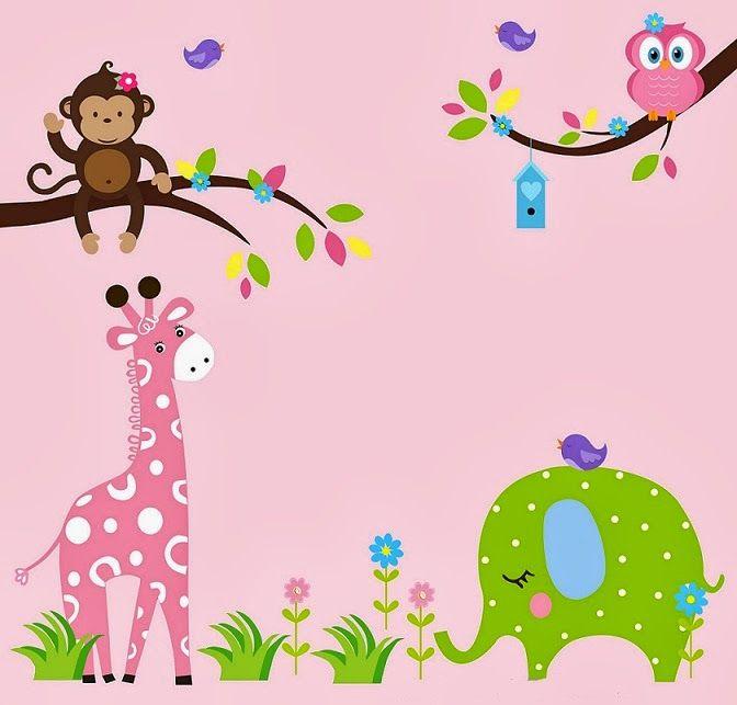 Decoraci n de las paredes del dormitorio infantil con for Papel tapiz infantil