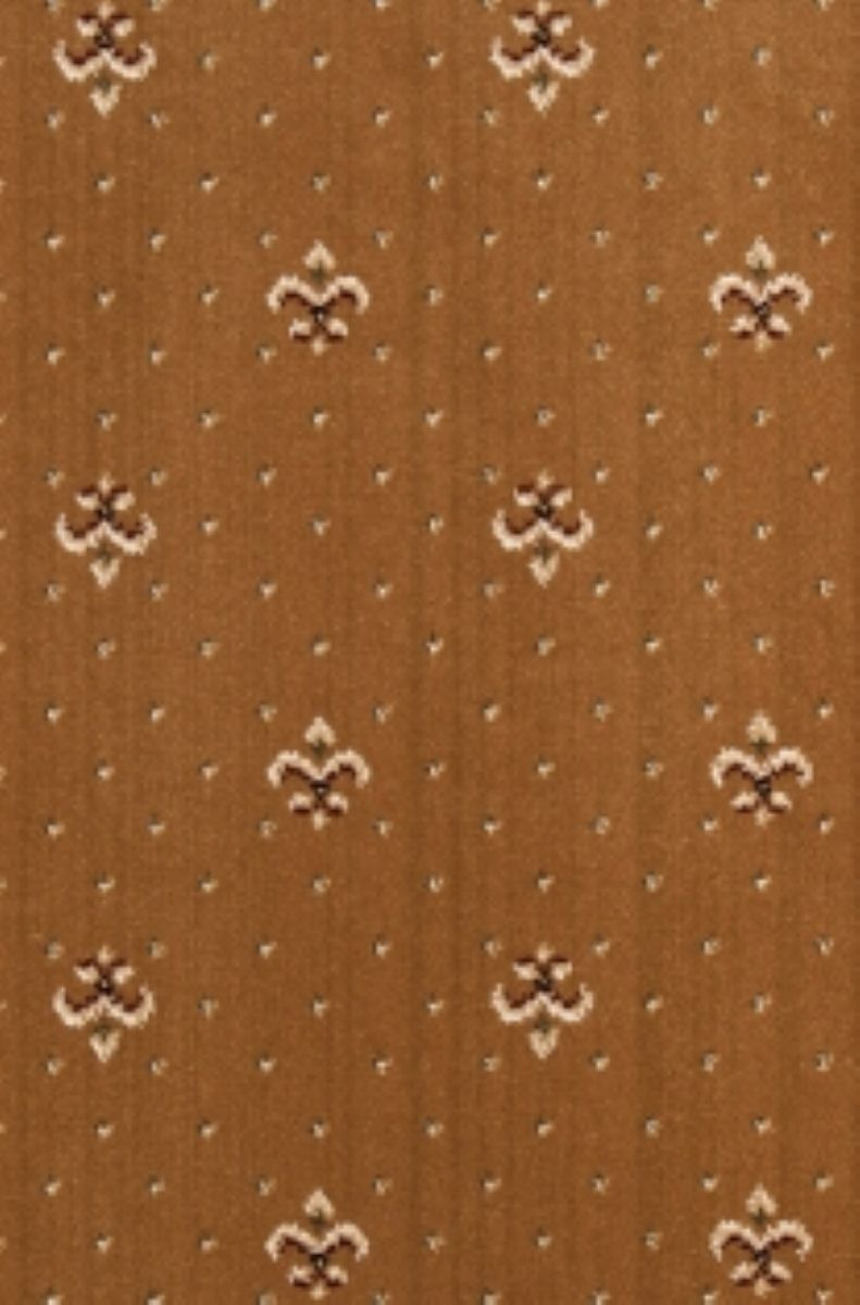 Crown Wilton Fleur De Lys Carpet In Golden Sand Colour