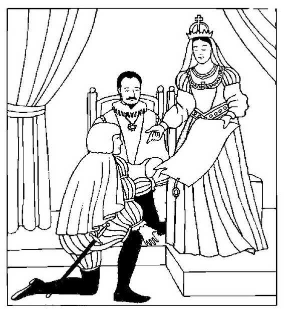 king and queen coloring pages columbus with king and queen of spain coloring page