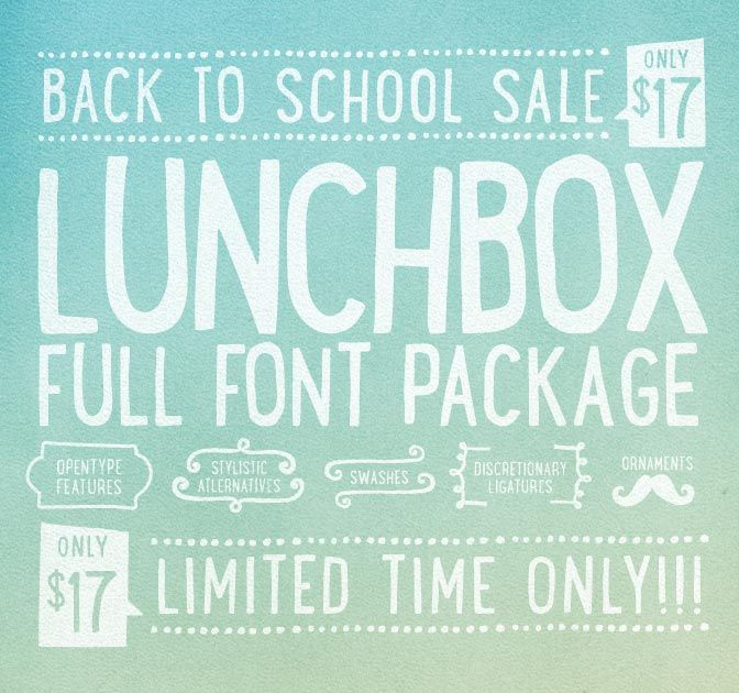 Quirky Lunchbox Typeface (1,500+ Glyphs)