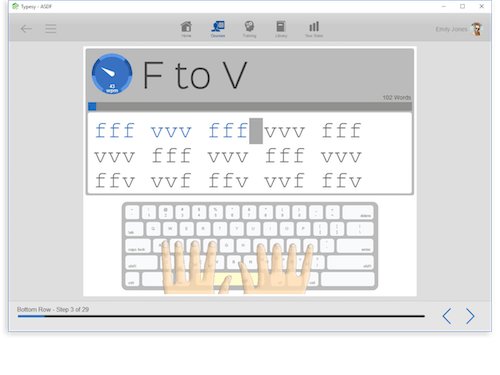 TypingWeb offers free trackable typing software for homeschoolers
