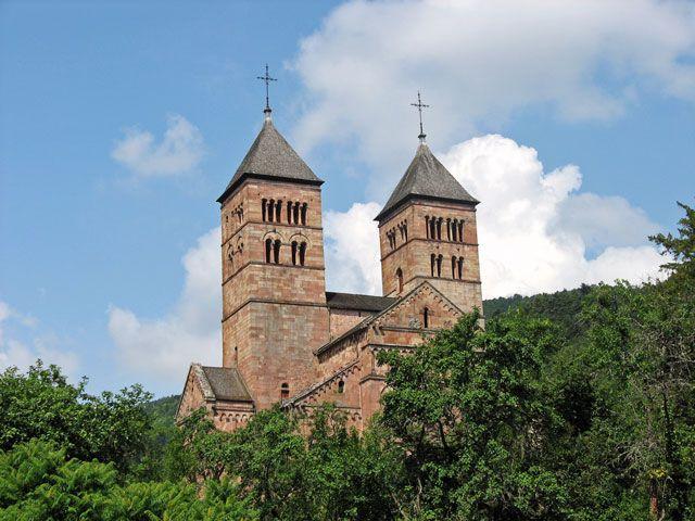 Murbach : abbatiale Saint-Léger.Alsace
