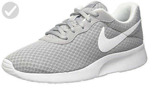 Nike Women's Tanjun Wolf Grey/White Running Shoe 6 Women US - All about  women
