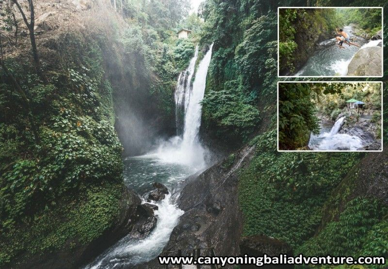 Cliff Jump in AlingAling Waterfall Bali