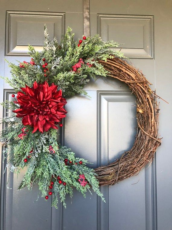 Photo of Christmas wreaths for front door, Winter Wreath, Christmas wreath , Holiday wreath, Christmas wreaths, holiday wreath front door