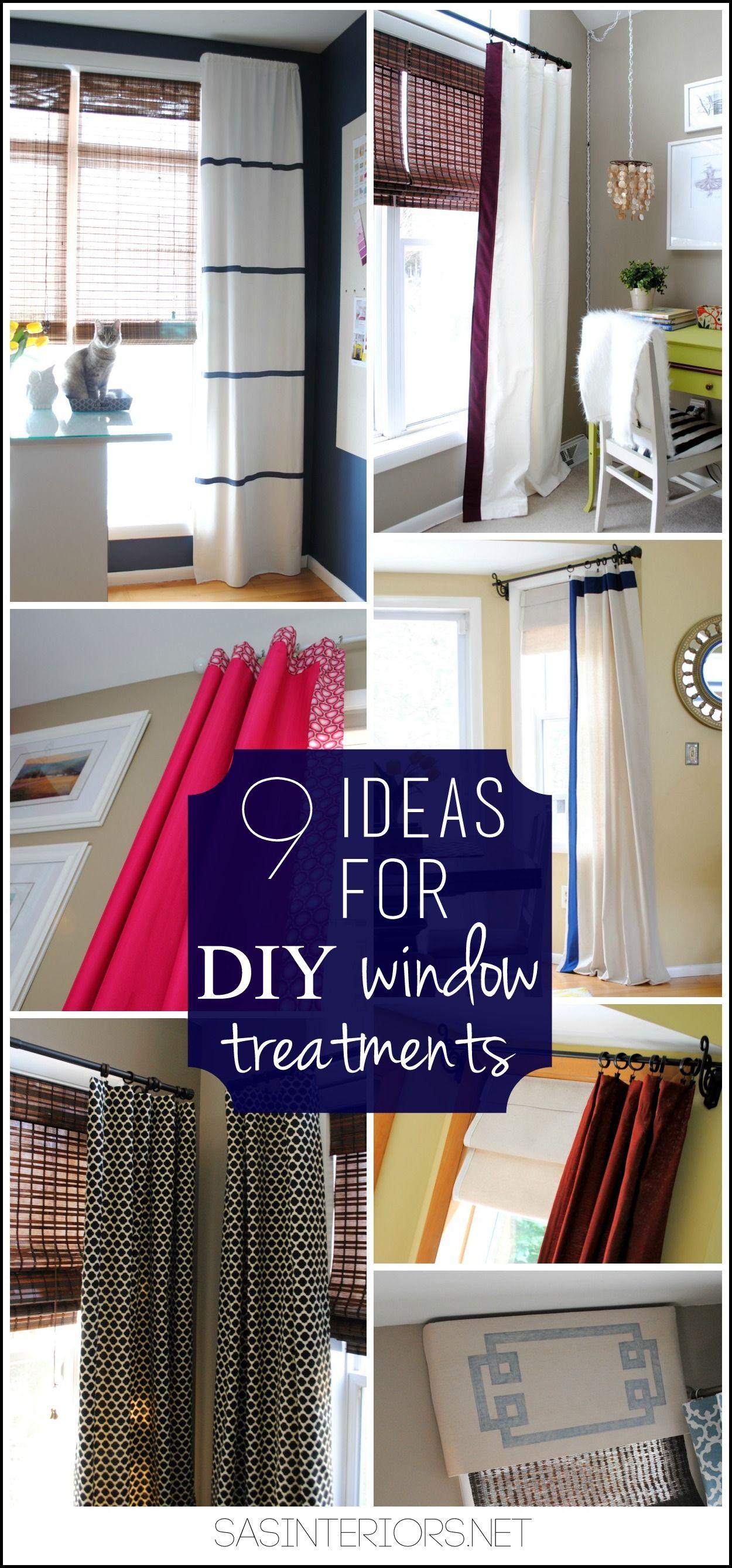 9 Ideas For Diy Window Treaments Unique Creative