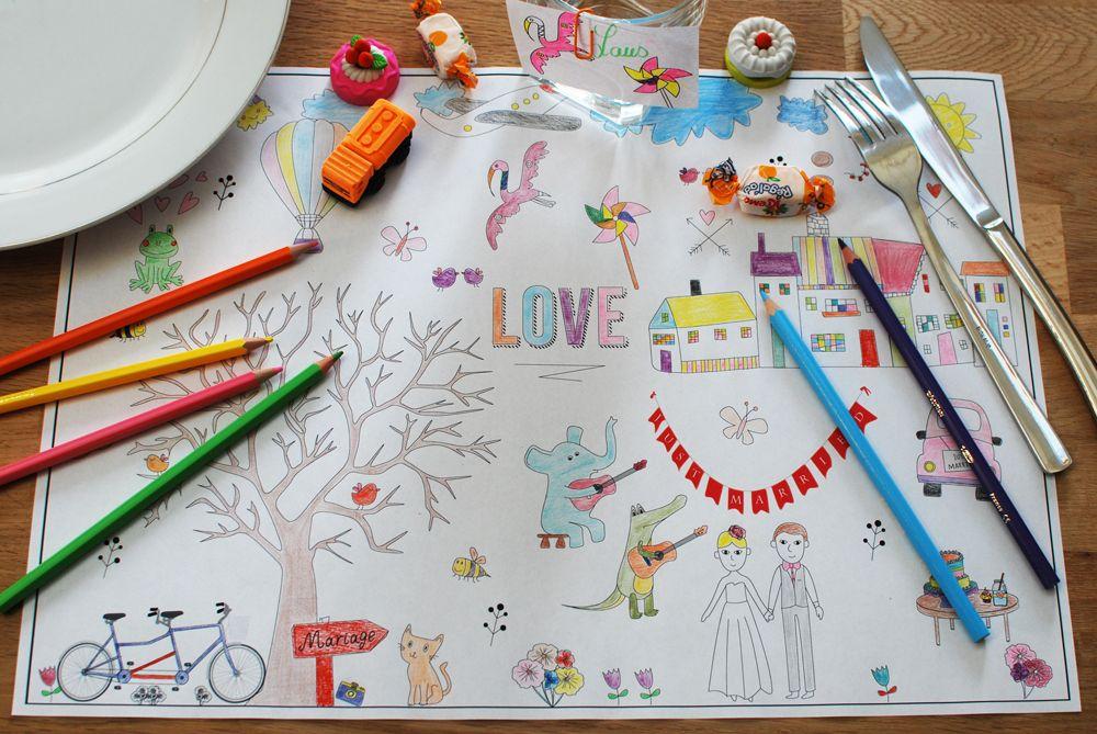 Beliebt Télécharger des sets de table à colorier pour les enfants | Set de  JS56