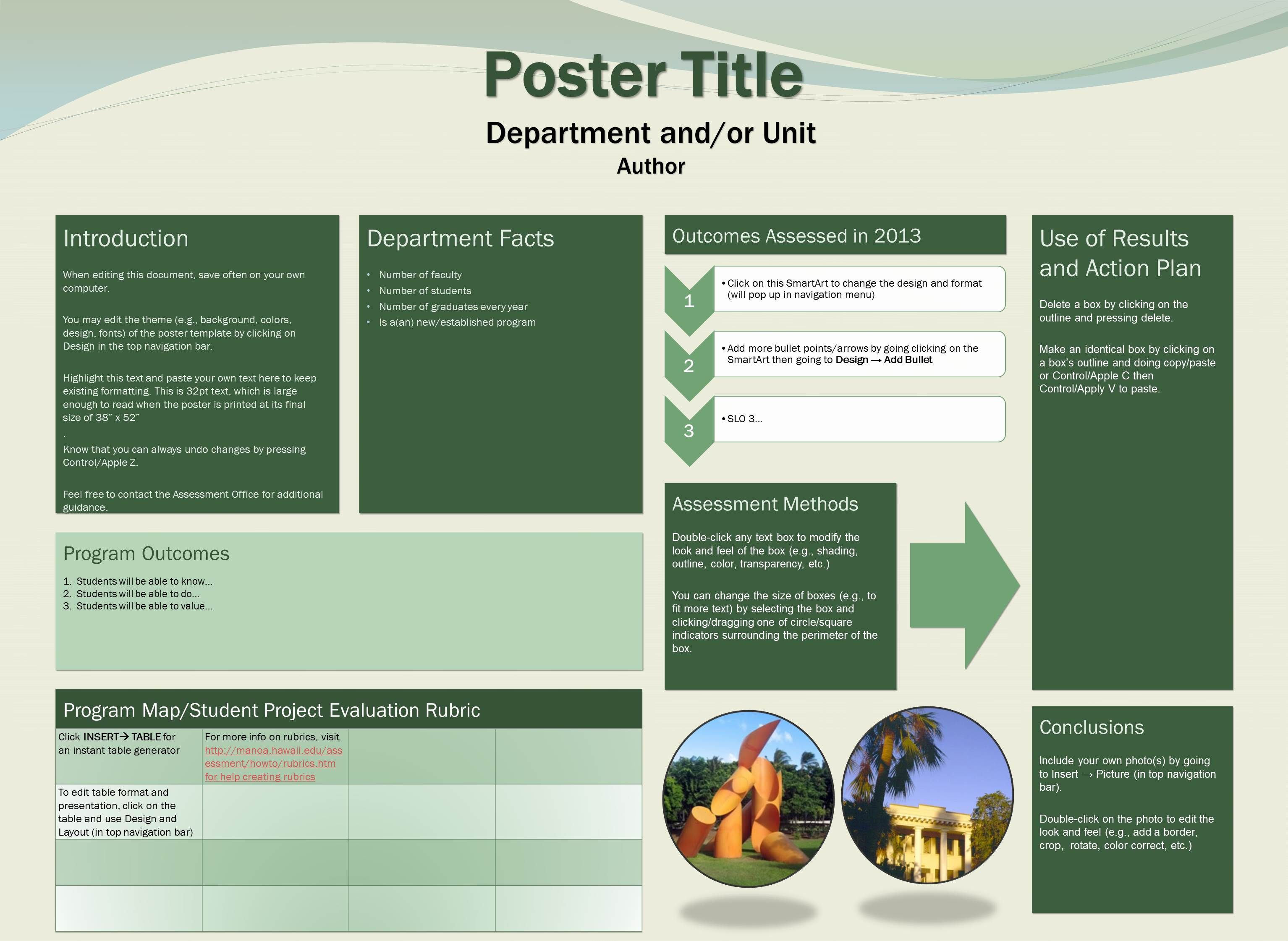 Template C  Research Poster    Assessment Templates