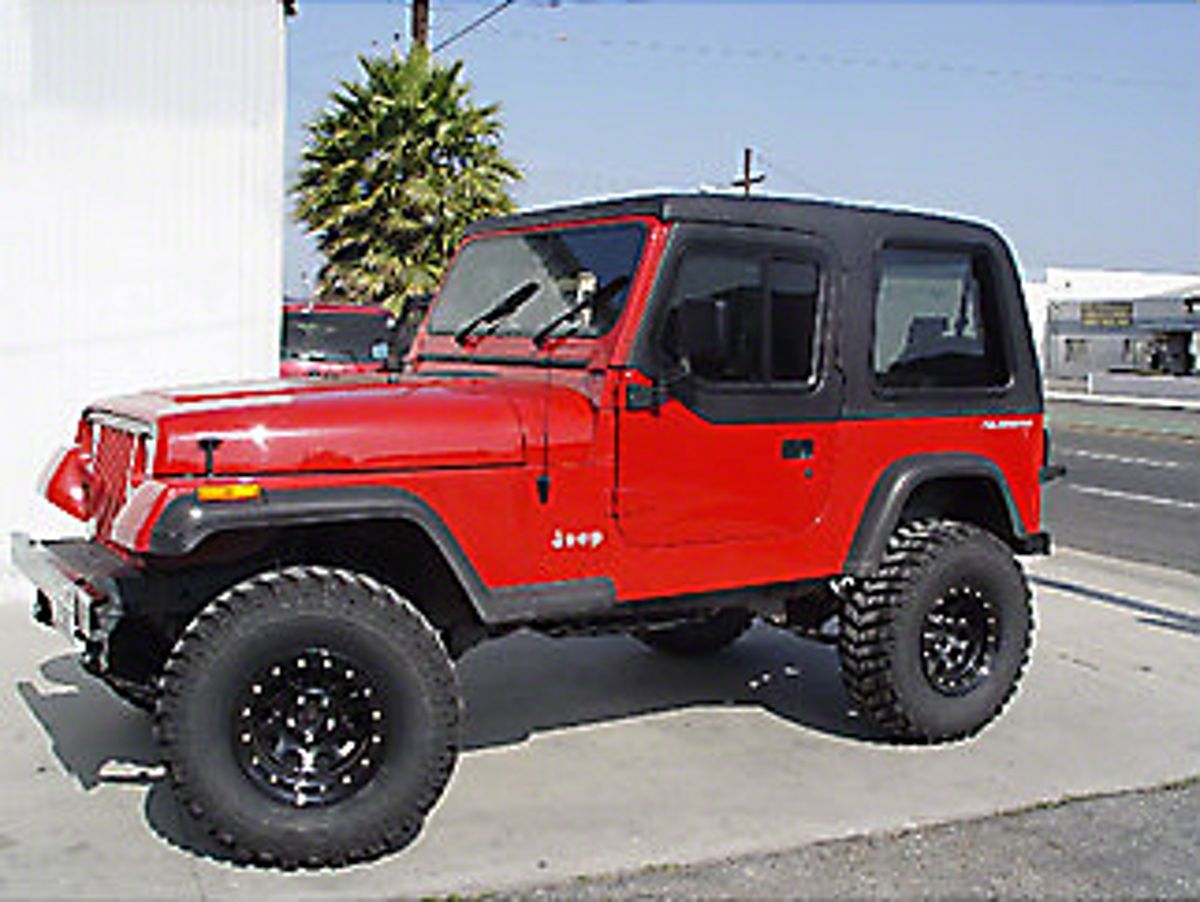 Jeep Wrangler One Piece Hard Top With Half Door Inserts 87 95