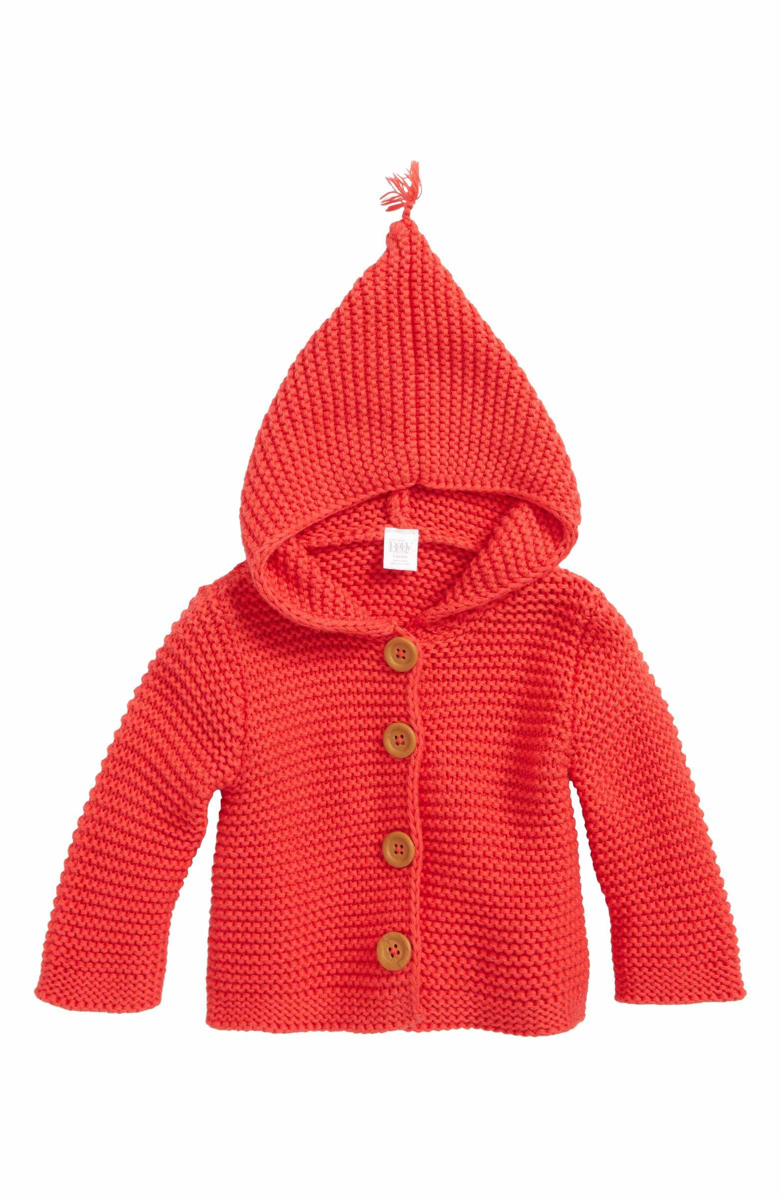 25abc88f8 Main Image - Nordstrom Baby Lofty Organic Cotton Hooded Cardigan ...