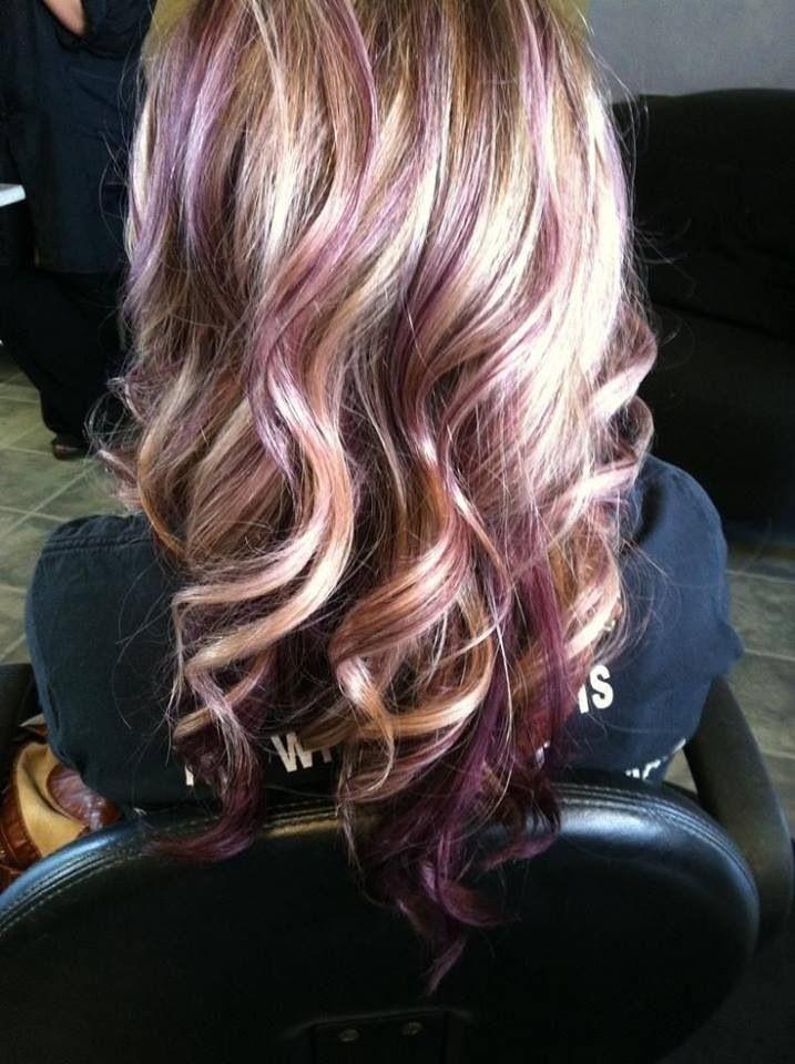 Lavender Highlights Hair Nails Pinterest Lavender Highlights