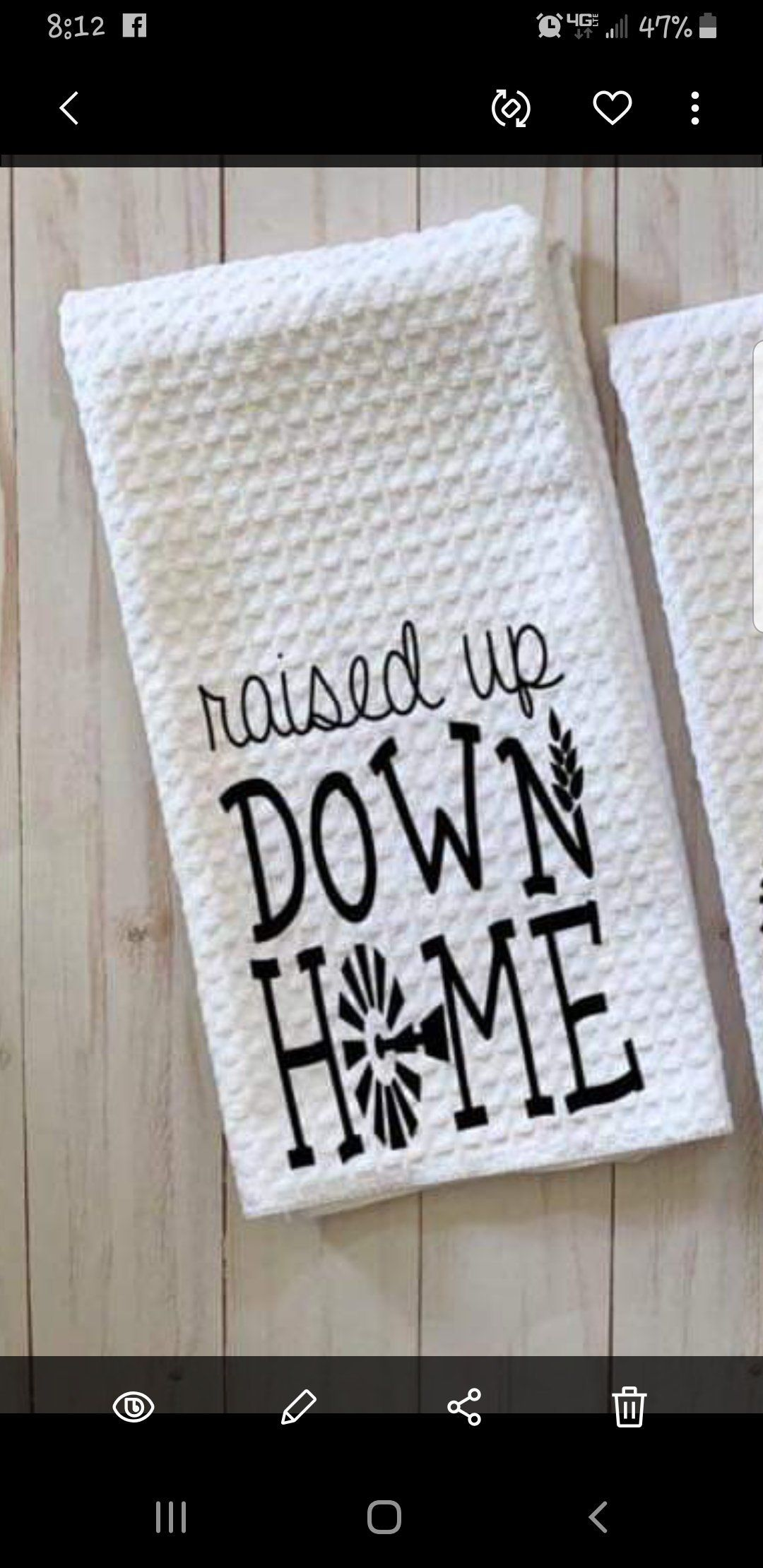 Raised Up Down Home Kitchen Hand Towel Decorated Towel Decorative