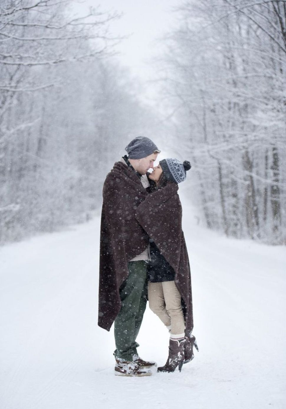 knowing these 30 secrets will make your winter engagement photo look