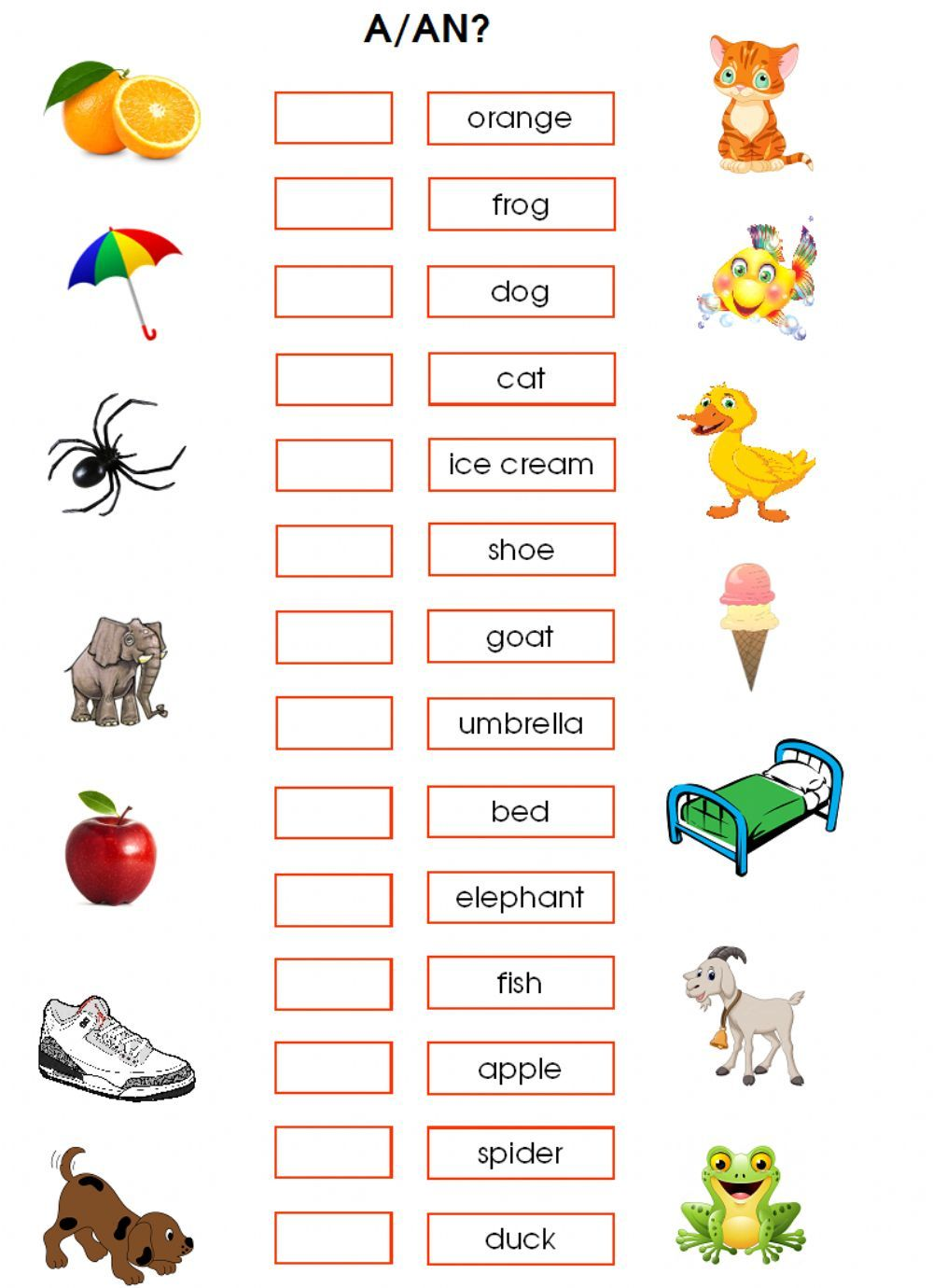 The Indefinite Articles Interactive And Downloadable Worksheet You Can Do The Exercises On Learning English For Kids Grammar For Kids English Lessons For Kids [ 1380 x 1000 Pixel ]