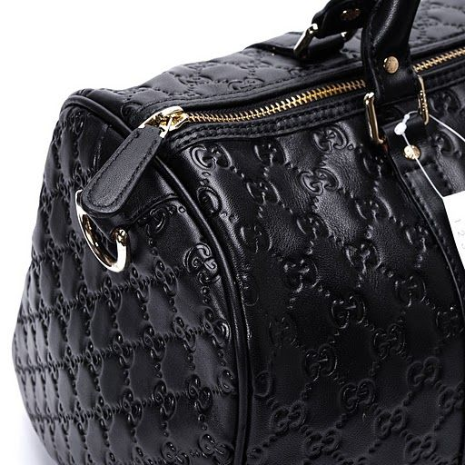 362b027da7ad Gucci Guccissima Leather Joy Medium Boston Bag Black 193603 [BAG ...