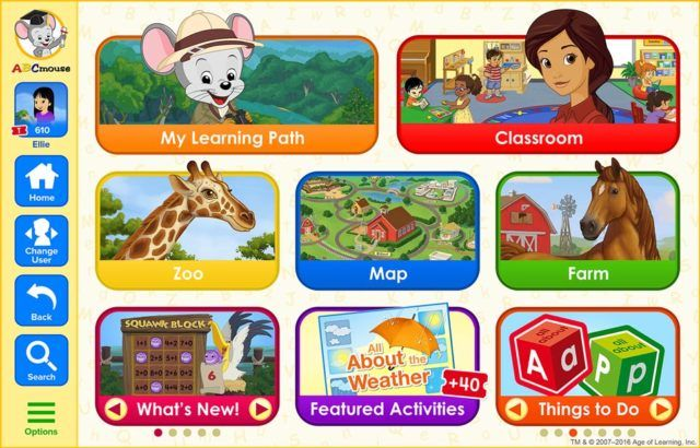 App Abc mouse, Android apps, Windows phone