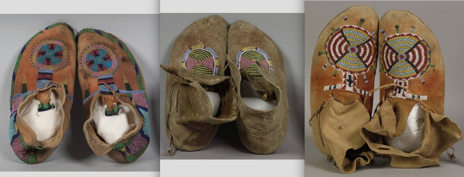 mocs with separate soft soles, probably Shoshone  NMNH  ac