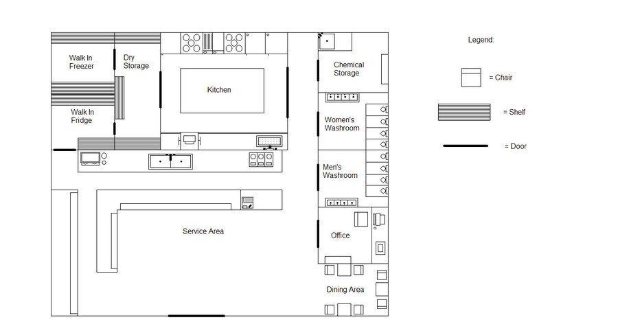 Bakery Floor Plan By Exchef123 On Deviantart Bakery Store Bakery Kitchen Bakery Business Plan
