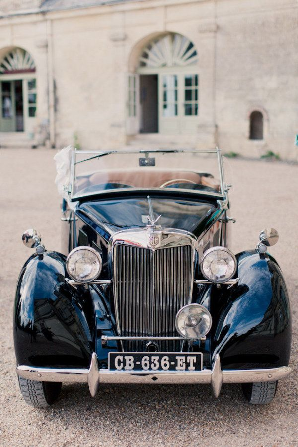 French Chateau Wedding From Mademoiselle Fiona Wedding Photography Vintage Car Wedding Retro Cars Antique Cars