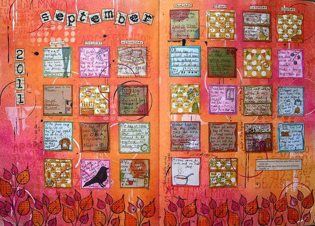 Calendar Art Journal : Art calendar september finished more journal