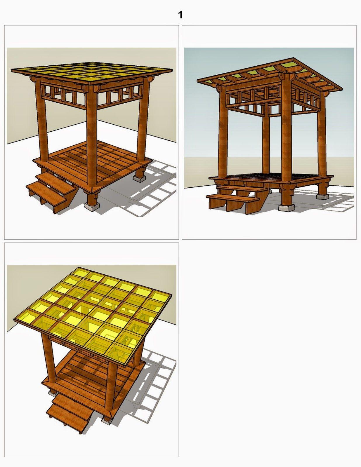 Konsultasi Gazebo Pergola Atap Datar 2x2 M2 Uk Lantai Gazebo