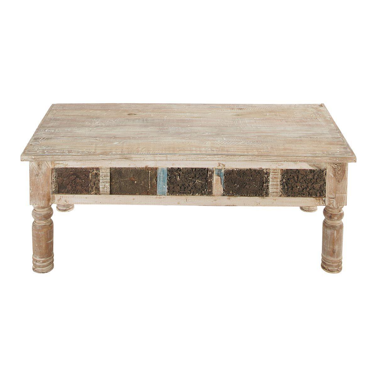 mesa baja india de madera reciclada karma