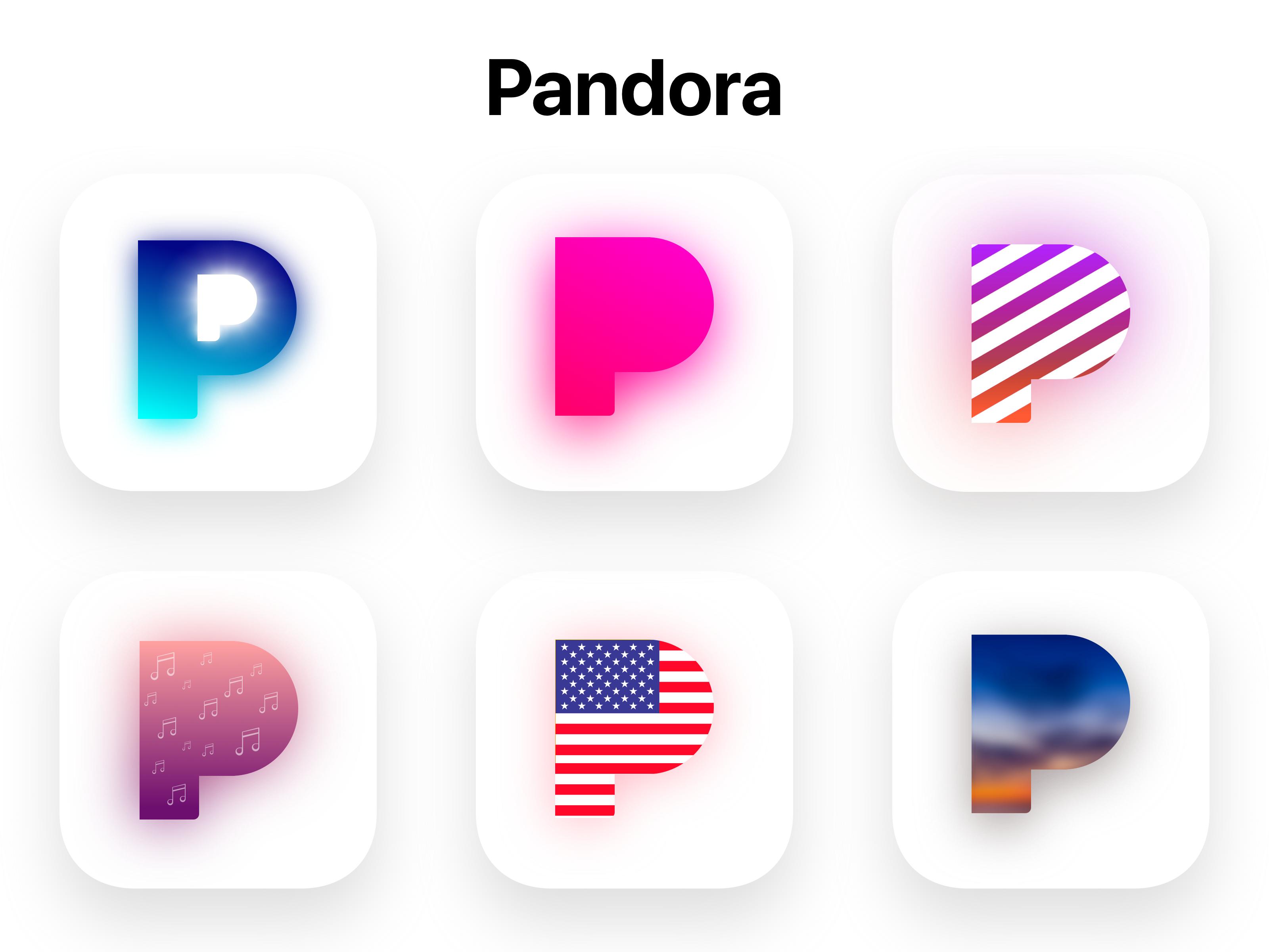 New Ios Pandora Icons Concept New Ios Cute App App Icon Design