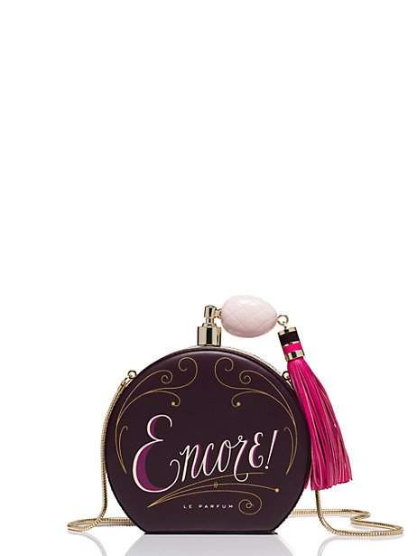 on pointe round perfume bottle clutch | Kate Spade New York