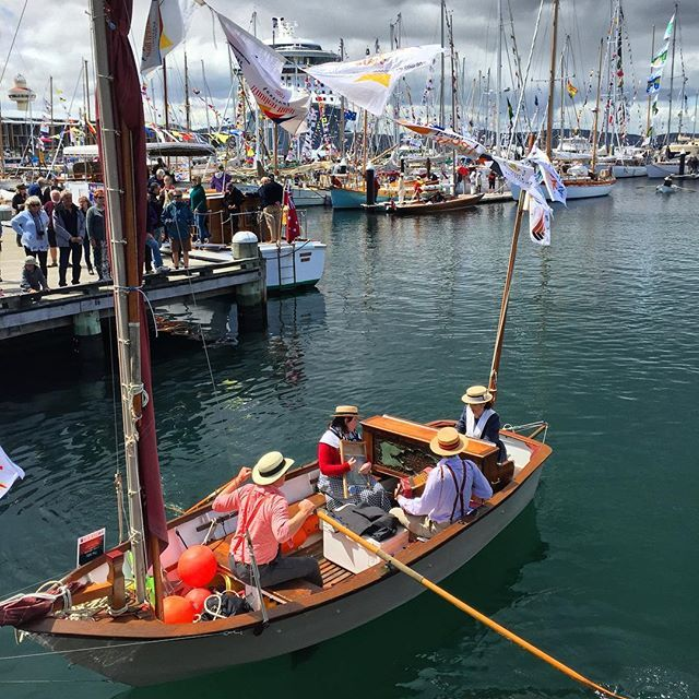 Hobarts Biyearly Australian Wooden Boat Festival In Action The