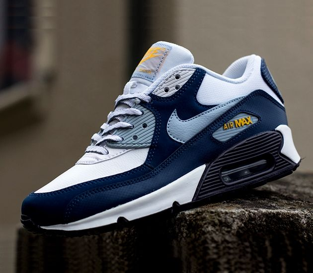 new arrival e63ef deb97 Nike Air Max 90 GS – Armory Blue   Laser Orange