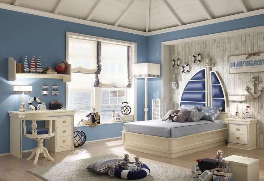 Arredare casa in stile marinaro | camera in stile marinaresco ...