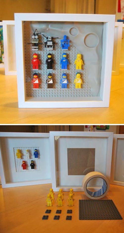 Lego Bedroom Decorating Ideas: #LEGO IKEA HACK- Ribba Lego Framed #minifigs.