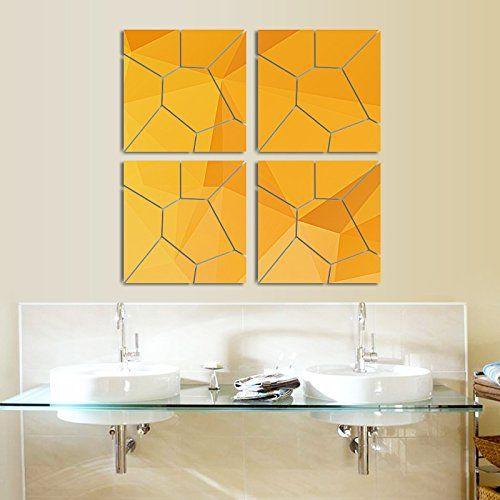 $17.99 - Vkatech 3D Acrylic Modern Mirror Decal Art Mural Wall ...