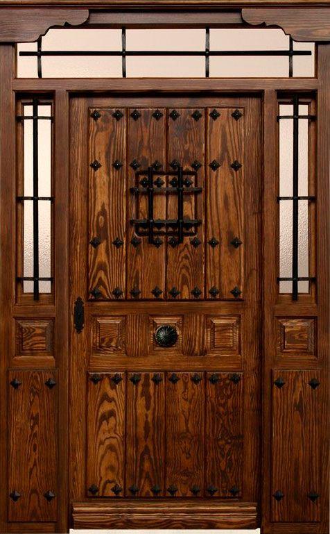 Herrajes puertas rusticas buscar con google pinterest for Puerta madera rustica