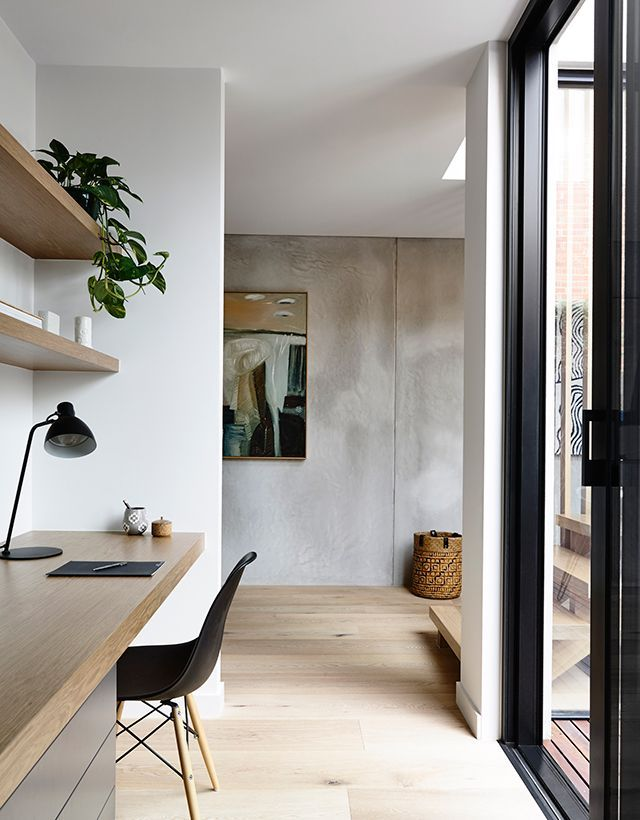 Study Desk A Slab Of Wood With Either Timber Draws Below Or Contrasting Finish Like