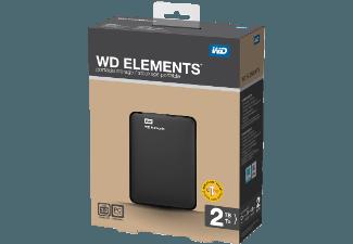 Wd Elements 2 Tb Hdd 2 5 Zoll Extern Festplatte Zoll Und Usb