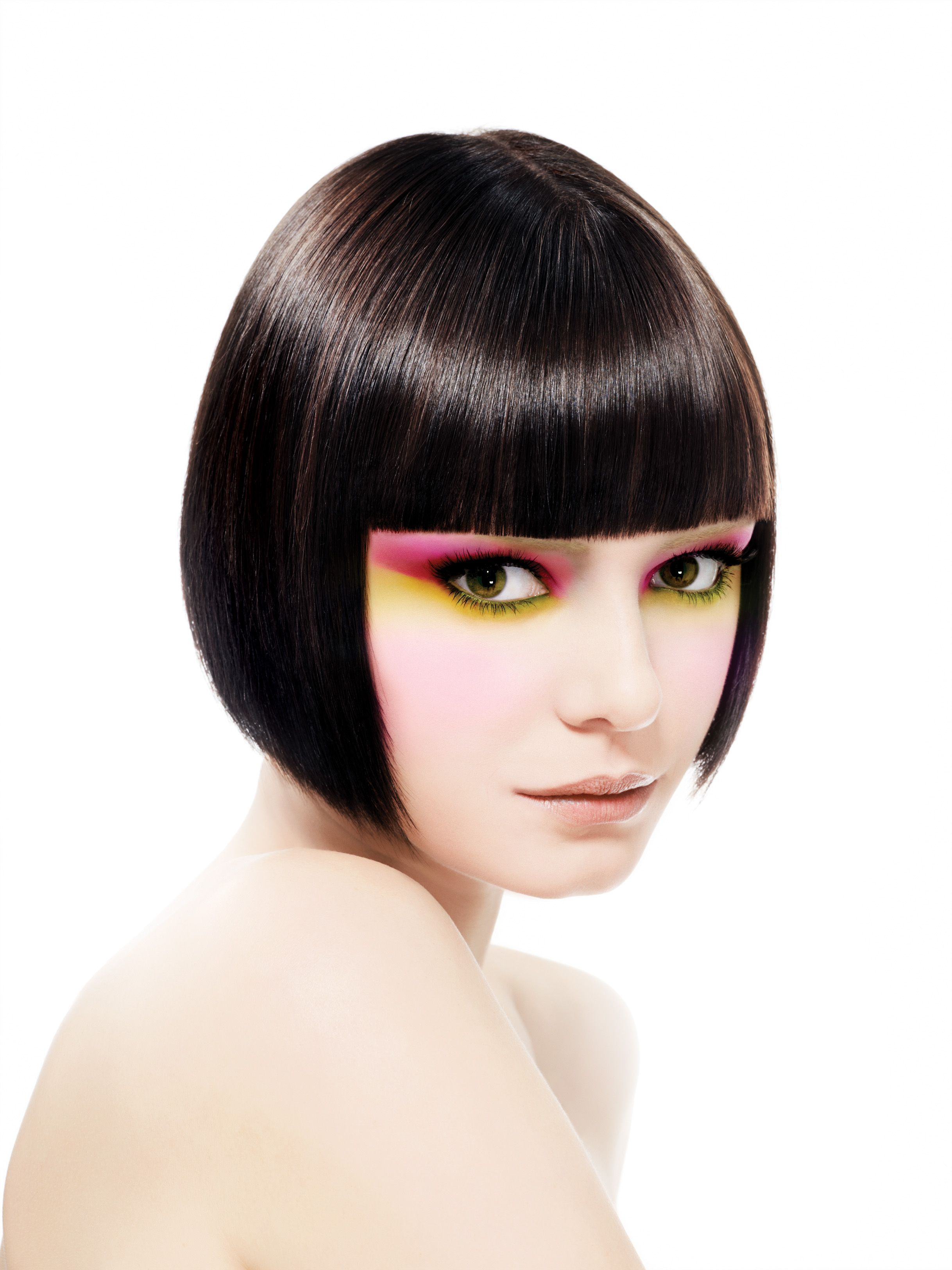 Shorthair paulmitchell brunette fringes pinterest paul