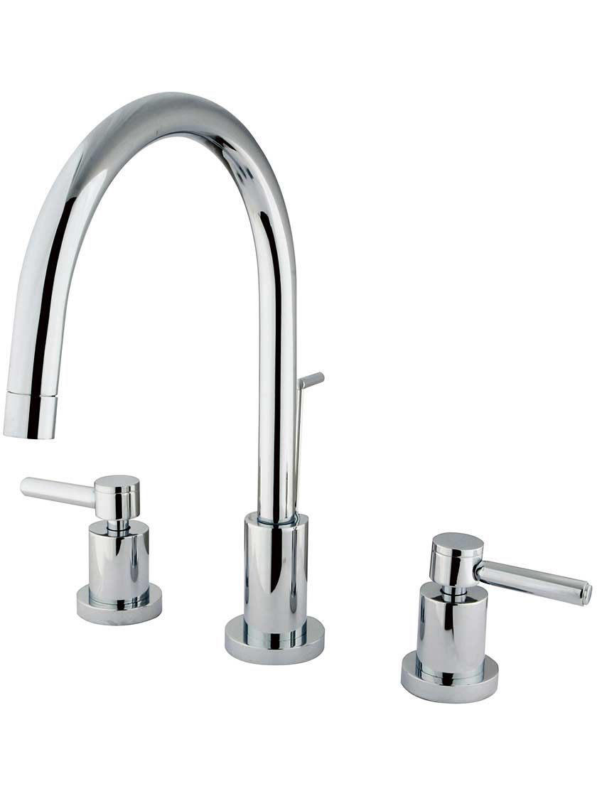 Sarasota Widespread Tall Bathroom Faucet with Bauhaus Levers ...