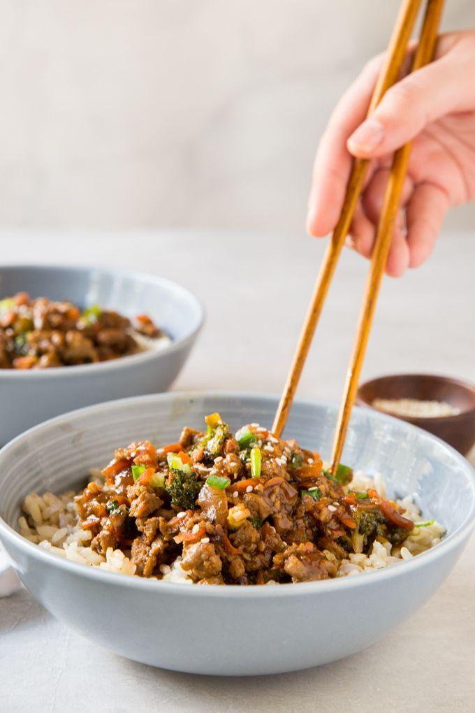 Teriyaki Turkey Rice Bowls
