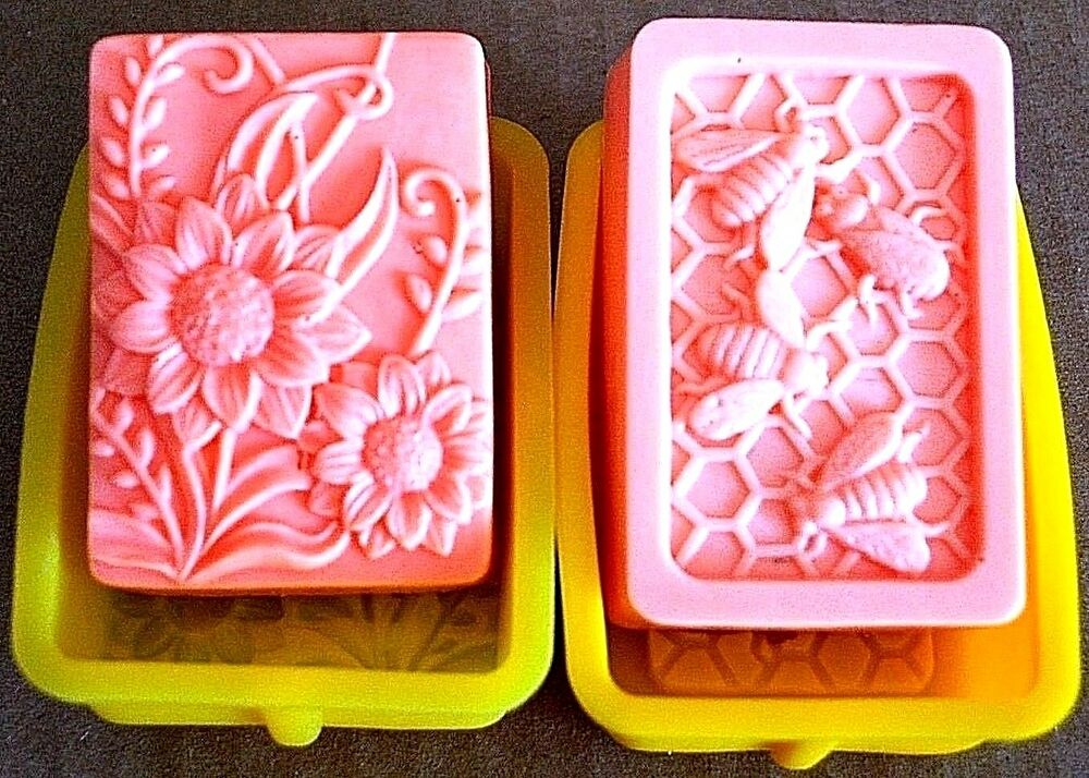 Silicone honeybee flower Soap Mold bee candle mould