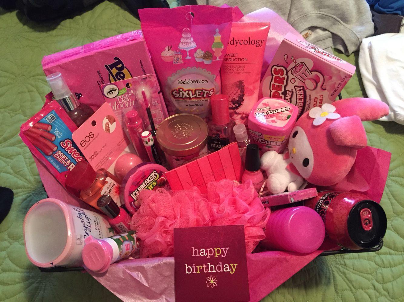 Pink themed basket birthdaybasket in 2020 Diy mother's