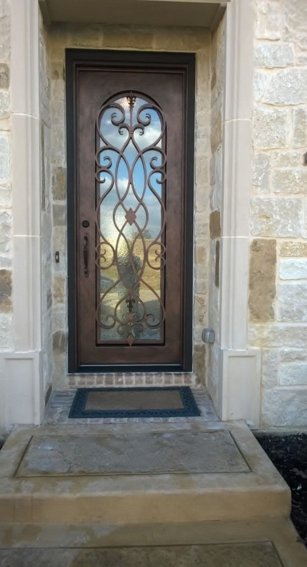 Custom Wrought Iron Door Aaleadedglass Com Wrought Iron